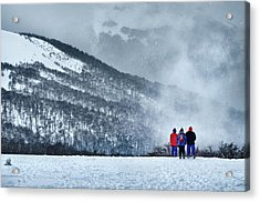 White Landscape In The Frozen Paradise Acrylic Print