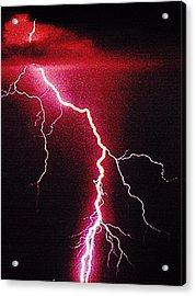 White Lightning Acrylic Print by Vicky Brago-Mitchell