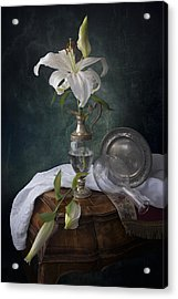 White Liliums Acrylic Print by Giovanni Allievi