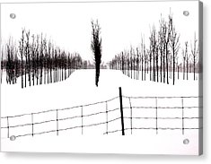 White Lines Fenced In  Acrylic Print by Russell Styles