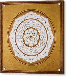 White Lotus Eye Acrylic Print