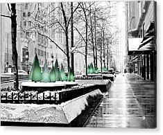 White Mag Mile Christmas Acrylic Print
