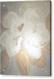 White Magnolia Acrylic Print by Marja Koskinen-Talavera