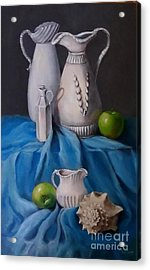 White Menagerie  Acrylic Print by Patricia Lang
