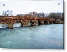 White Mill Bridge - England Acrylic Print