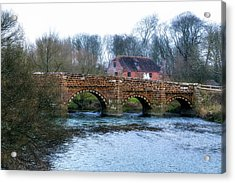 White Mill - England Acrylic Print