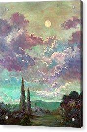White Moon Rising Acrylic Print