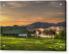 White Mountain Sunrise - New Hampshire Acrylic Print by Joann Vitali