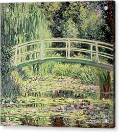 White Nenuphars Acrylic Print by Claude Monet
