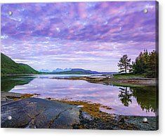 Acrylic Print featuring the photograph White Night In Nordkilpollen Cove by Dmytro Korol