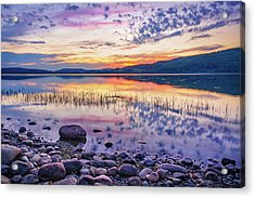 Acrylic Print featuring the photograph White Night Sunset On A Swedish Lake by Dmytro Korol