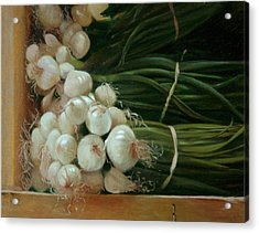 White Onions Acrylic Print by Michael Lynn Adams