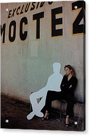 White-out 4 Exclusivo Moctez Acrylic Print by William Douglas