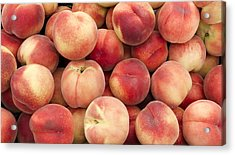 White Peaches Acrylic Print by John Trax