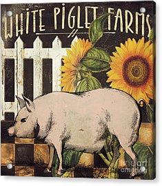 White Piglet Farms Acrylic Print