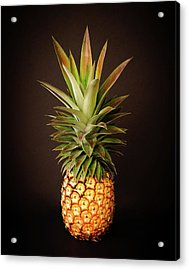 White Pineapple King Acrylic Print