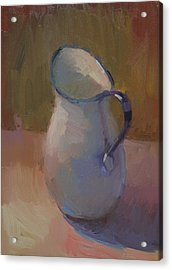 White Pitcher Acrylic Print by Kathryn Townsend