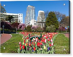 White Plains Beautification Foundation Garden Acrylic Print