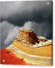 White Pocket 35 Acrylic Print by Bob Christopher