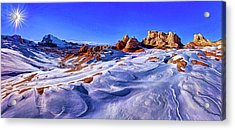 White Pocket Winter Acrylic Print by ABeautifulSky Photography