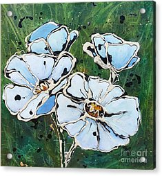 White Poppies Acrylic Print by Phyllis Howard