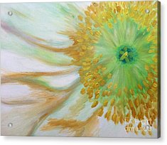 Acrylic Print featuring the painting White Poppy by Sheron Petrie