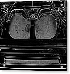 White Porsche  Acrylic Print by Fred Nugent