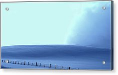 White Powder Wave Acrylic Print