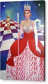 White Queen Acrylic Print by Elena Bardina