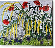 White Rabbit Acrylic Print
