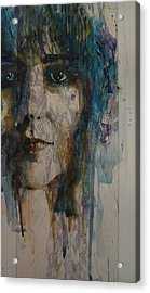 White Rabbit Acrylic Print by Paul Lovering