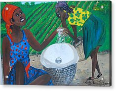 Acrylic Print featuring the painting White Rice Merchant by Nicole Jean-Louis
