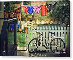 Acrylic Print featuring the photograph White River Bicycle by Craig J Satterlee