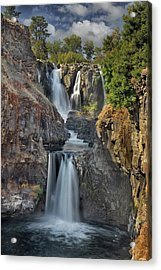 White River Falls State Park Acrylic Print by David Gn