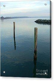 White Rock Water Acrylic Print by Jim Thomson