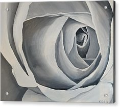 Acrylic Print featuring the painting White Rose by Kevin Daly