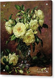 White Roses - A Gift From The Heart Acrylic Print by Albert Williams