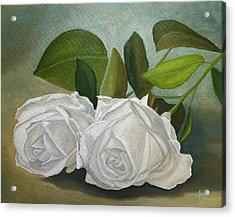 White Roses Acrylic Print