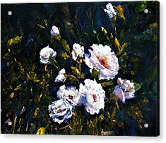 White Roses Acrylic Print by Jimmie Trotter