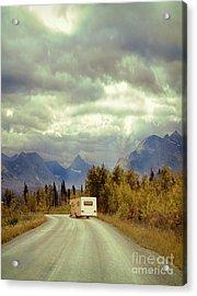 Acrylic Print featuring the photograph White Rv In Montana by Jill Battaglia