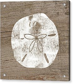 White Sand Dollar- Art By Linda Woods Acrylic Print