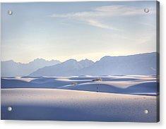 White Sands Blue Sky Acrylic Print