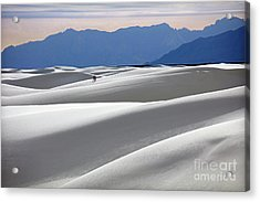 White Sands Hikers Acrylic Print