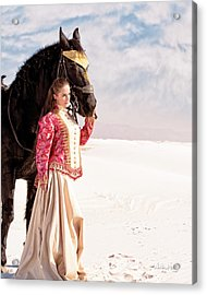 White Sands Horse And Rider #2a Acrylic Print