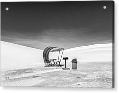 Acrylic Print featuring the photograph White Sands National Monument #8 by Lou Novick
