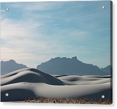 Acrylic Print featuring the painting White Sands Natural Anatomy  by Jack Pumphrey