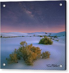 White Sands Starry Night Acrylic Print