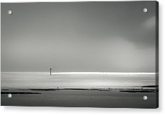 White Sandy Shore- B/w Acrylic Print
