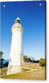 White Seaside Tower Acrylic Print