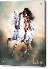 Acrylic Print featuring the digital art White Storm by Shanina Conway